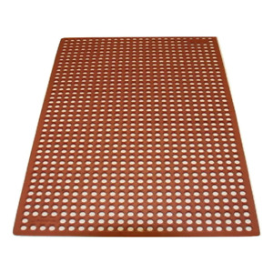 Kitchen Mat 3 ft. x 15 ft. Molded Bevel Edge Anti-Fatigue Machine-Made Rubber