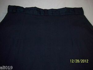 Aeropostale Cotton Skirt with Nylon Trim Waistband Zip Front, Side Zippers M, L