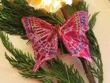 Feather Butterfly - Burgundy Glitter - 7.5cm Wingspan