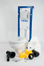 Wisa WC-Set,WC Element XS WC Vorwandelement+Wand -WC+WC-Sitz Absenkautomatik