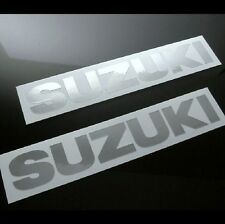 "CHROME SUZUKI TANK DECALS, (6""x 1""), SET OF 2, katana hayabusa gsxr bandit sv tl"
