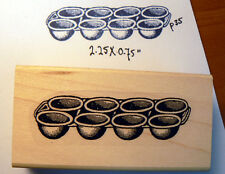 P35 Vintage muffin pan Rubber Stamp WM