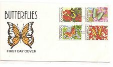 Dominica 1989 Butterflies to $5 Cacheted First Day Cover (baf)