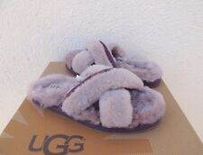 UGG ABELA DUSK FLUFFY SHEEPSKIN STREET FRIENDLY SLIPPERS, US 10/ EUR 41 ~ NIB
