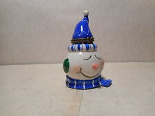 Snowman With Blue Hat and Scarf  Hinged  Trinket Box