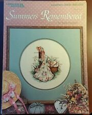 """Paula Vaughn """"Summers Remembered"""" Flowers and Quilts Counted Cross Stitch Chart"""