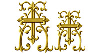 """ABC Designs Christian Crosses Font Embroidery Designs 4""""x4"""" Hoop in 2 Sizes"""