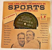Vintage The Greatest Moments In Sports---33 1/3 RPM Record Columbia Records,1955