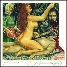 Kirnitskiy Sergey 2001 Exlibris C4 Mythology Judith Holofernes Erotic Nude 34
