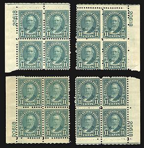 #692 11c Light Blue 1931 *MNH* All 4 Corner Plate #20618 Blocks of 4 CV $110