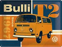 Volkswagen VW Bulli T2 Bus Werbung Nostalgie Vintage Reklame Poster Schild *110