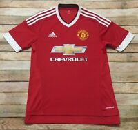 MANCHESTER UNITED Jersey Adidas 2015-16 HOME Soccer Football Shirt Red Men SMALL