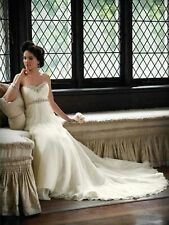 9cdf016d9e4 DESTINATION OR BEACH MON CHERI FLOWY SILK BRIDAL GOWN WEDDING DRESS 12