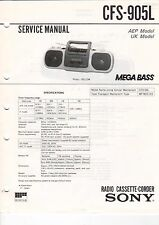 SONY - CFS-905L - Service Manual Schaltbild - B3180