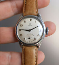 Vintage WWII era Swedish Military Omega 1940's Steel Watch