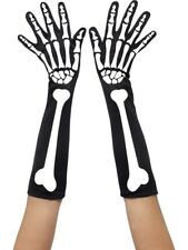 Skeleton Gloves Adult Womens Smiffys Fancy Dress Gloves