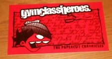 Gym Class Heroes The Papercut Chronicles Sticker 2-Sided Original Promo 5x3