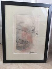 Auguste Chabaud Crayonné De Couleur avec son Certificat D'authenticité