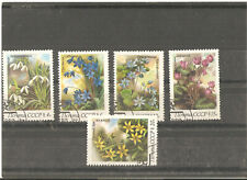 5 used stamps (serie) with any flowers,1983 year