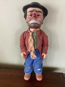 """Vintage """"Willie the Clown"""" Hobo Doll by Emmett Kelly Baby Barry Toy"""