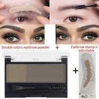 Waterproof Eyebrow Makeup Powder Definition Brow Stamp Paint UK Eyebrow G5S3