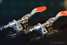 2x Hebel-Drücker Halter Spanner Seitenspanner verstellbar Metall Schnellspanner