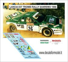 DECALS 1/43 LANCIA 037 TROMBI RALLY SANREMO 1986