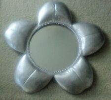 "24"" Metal Flower with 13 ½"" Mirror at Center – Great Whimsical Item"