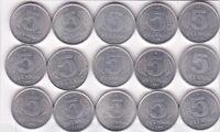 15 x 5 Pfennig DDR 1975 bis 1989 A Berlin prima Erhaltung