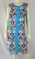 Buckhead Betties Dress L Womens New Cotton Shift Lined