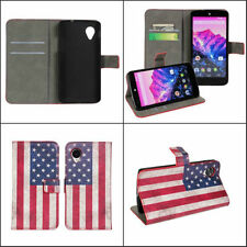 Custodia portafogli supporto BOOK per LG Google Nexus 5 USA americana vintage