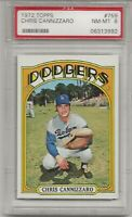 1972 TOPPS #759 CHRIS CANNIZZARO, PSA 8 NM-MT, LOS ANGELES DODGERS, L@@K !