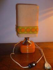 Lampe de chevet orange années 1970 Vintage