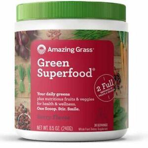 Green Superfood Drink Powder Berry 8.5 Oz