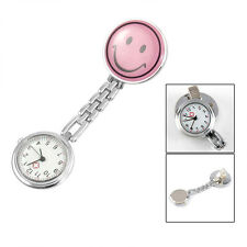 Cute Smile Face Nurse Doctor Brooch Watch Pocket Pendant Quartz Pocket Watches