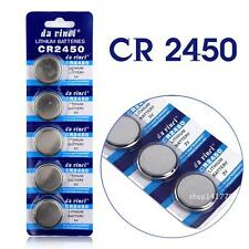 1 pile bouton plate CR2450 3V LITHIUM batterie , 4 achetés, 5eme offerte
