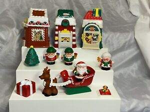 Fisher Price Little People Christmas Village Lot of Figures and Toys