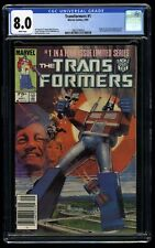 Transformers #1 CGC VF 8.0 White Pages Newsstand Variant