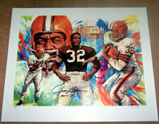 2 Autographed JIM BROWN Lithographs Pro Football Hall of Fame