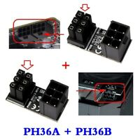 Female ATX 6Pin to 6pin Male 180 ° Power Adapter for Desktops Graphics Card
