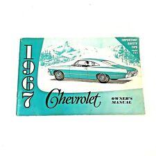 Owners Manual 1967 Chevrolet Original Factory Maintenance Guide Vintage