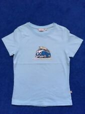 Animal ladies/girls T-shirt size S light blue VW mini bus graphic to front