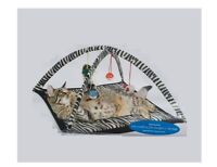 Play Tent for Cats - Interactive - excersize - open arch zebra print tent