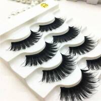 5PAIR False Lashes DRAMATIC VOLUME STUNNING Fake Eyelash THICK LONG Mink Lash LK