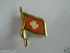 PINS,SPELDJES 50'S/60'S COUNTRY FLAGS 74 SWITZERLAND VINTAGE VERY OLD VLAG
