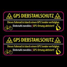 2x ✔ GPS Fahrrad Aufkleber ✔ Diebstahlschutz Hinweis ✔ 10cm ✔ Tracking Sticker ✔