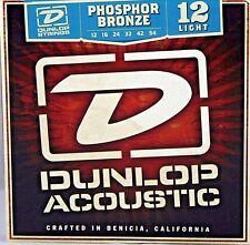Dunlop Acoustic Guitar Strings #12 Phosphor Bronze Light (12-54)  1 Set