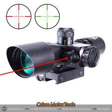 Tactical 2.5-10x40EG Laser Riflescope Red Green Dual illuminated Mil-dot w/Mount