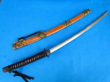 Practice Samurai Sword Japanese katana Carbon steel hammer Blade Lacquer Saya