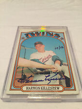 2004 Topps Originals Harmon Killebrew autographed 1972 card hand #'d